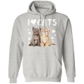 I LOVE CATS LADIES Pullover Hoodie 8 oz.