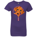 DACHSHUND ZIP-DOWN Girls' Princess T-Shirt
