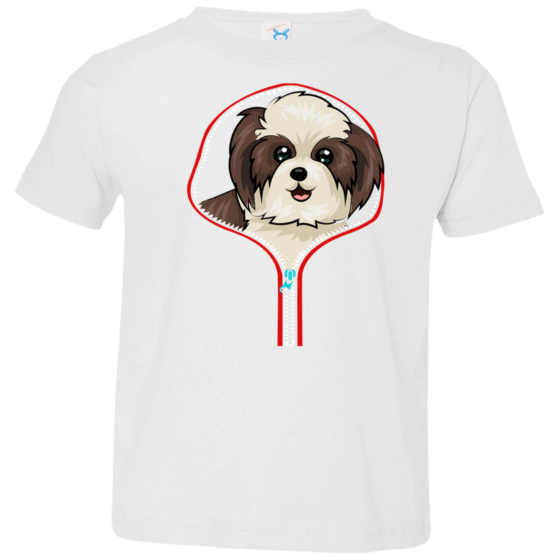 SHIH TZU ZIP-DOWN Toddler Jersey T-Shirt