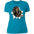 DACHSHUND 3D Ladies' Boyfriend T-Shirt