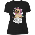 PUG UNICORN Ladies' Boyfriend T-Shirt