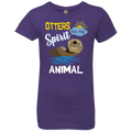 OTTERS ARE MY SPIRIT ANIMAL Girls' Princess T-Shirt