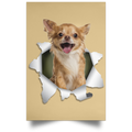 CHIHUAHUA 3D Satin Portrait Poster