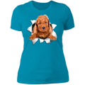 POODLE 3D Ladies' Boyfriend T-Shirt