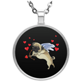 PUG CUPID Circle Necklace
