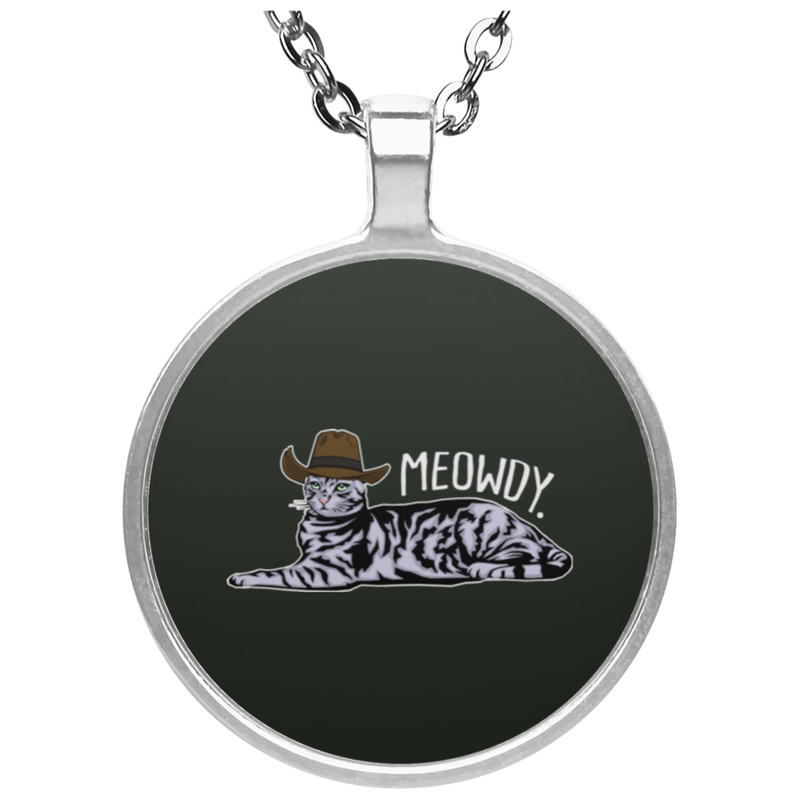 MEWODY TEXAS CAT Circle Necklace