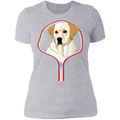 LABRADOR RETRIEVER ZIP-DOWN Ladies' Boyfriend T-Shirt