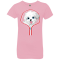 MALTESE ZIP-DOWN Girls' Princess T-Shirt