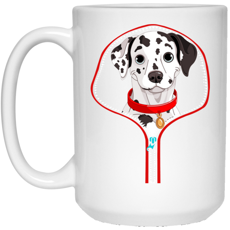 DALMATIAN ZIP-DOWN 15 oz. White Mug