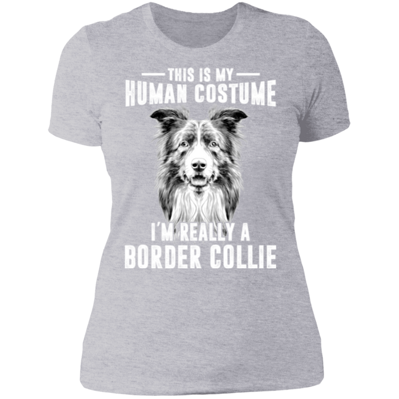 THIS IS MY HUMAN COSTUME Ladies' Boyfriend T-Shirt