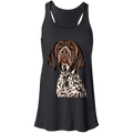 CUSTOMIZED PET PRINT ART  Flowy Racerback Tank