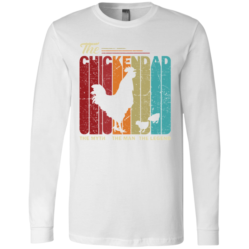 THE CHICKEN DAD Men's Jersey LS T-Shirt
