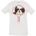 SHIH TZU ZIP-DOWN Infant Jersey T-Shirt