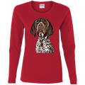 CUSTOMIZED PET PRINT ART  Ladies' Cotton LS T-Shirt