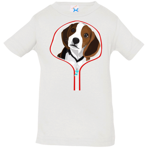 BEAGLE ZIP-DOWN Infant Jersey T-Shirt