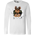 YORKSHIRE TERRIER 3D Men's Jersey LS T-Shirt