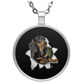 DACHSHUND 3D Circle Necklace
