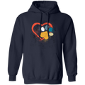 LOVE HEART PAW PRINT LADIES Pullover Hoodie 8 oz.
