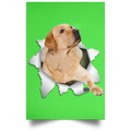 LABRADOR RETRIEVER 3D Satin Portrait Poster