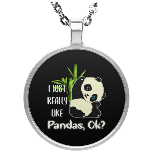 I REALLY LIKE PANDAS Circle Necklace