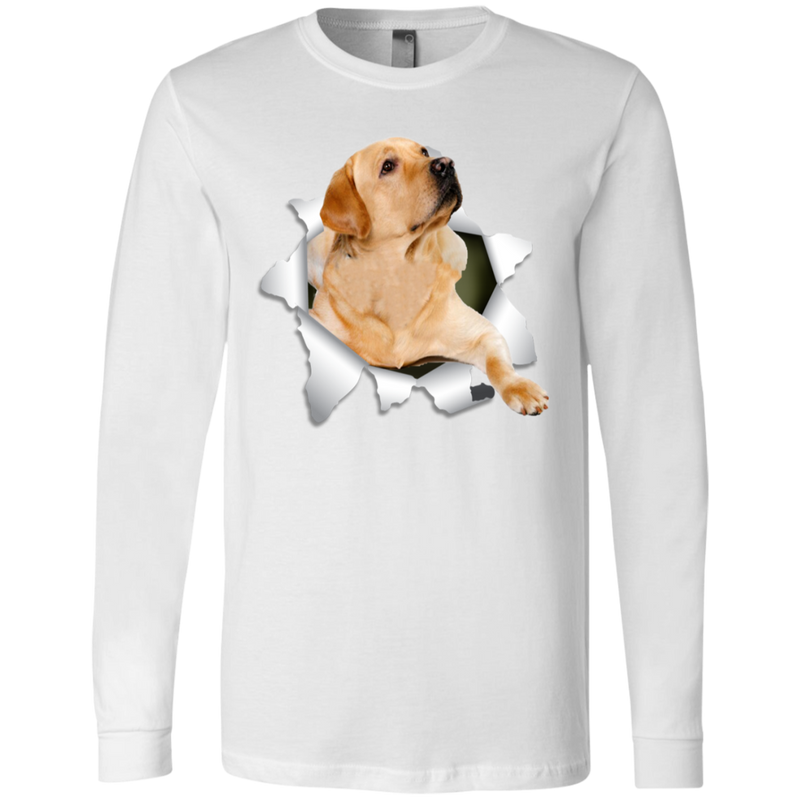 LABRADOR RETRIEVER 3D Men's Jersey LS T-Shirt