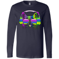 RAINBOW MUSIC CAT Men's Jersey LS T-Shirt