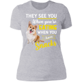 THEY SEE YOU WHEN YOUR EATING Ladies' Boyfriend T-Shirt