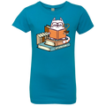 KITTENS TEA AND BOOKS Girls' Princess T-Shirt