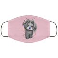 Hand painted 	Shih Tzu human Face Mask