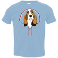 BASSET HOUND ZIP-DOWN Toddler Jersey T-Shirt