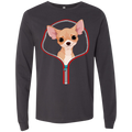 CHIHUAHUA ZIP-DOWN Men's Jersey LS T-Shirt