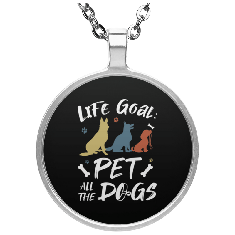 PET ALL THE DOGS Circle Necklace
