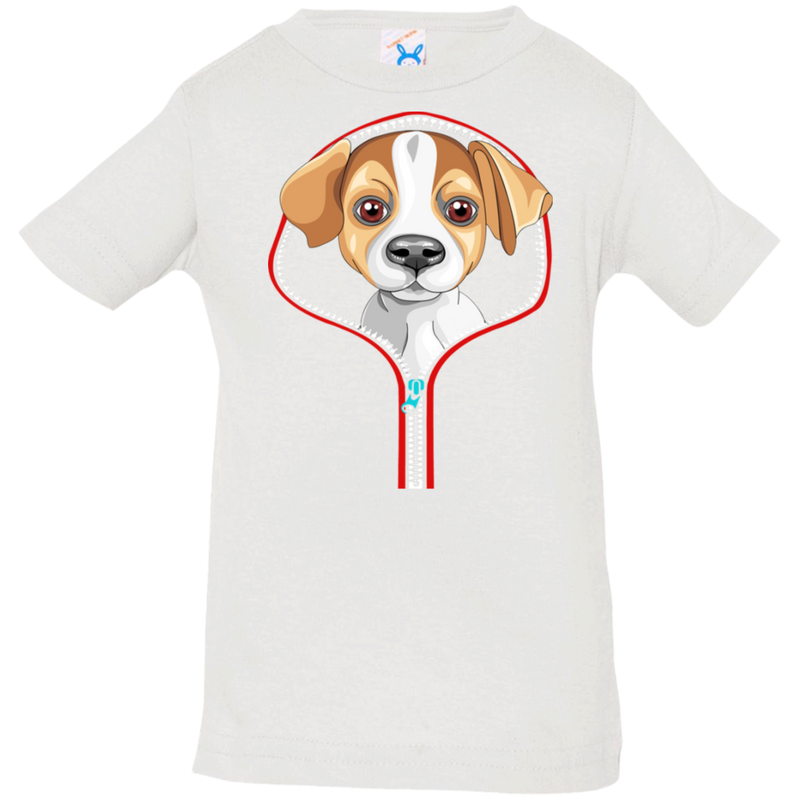 JACK RUSSEL ZIP-DOWN Infant Jersey T-Shirt
