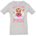 JUST A GIRL WHO LOVES PIGS  Infant Jersey T-Shirt
