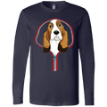 BASSET HOUND ZIP-DOWN Men's Jersey LS T-Shirt