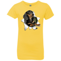 DACHSHUND 3D Girls' Princess T-Shirt