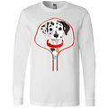 DALMATIAN ZIP-DOWN Men's Jersey LS T-Shirt