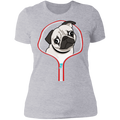 PUG ZIP-DOWN Ladies' Boyfriend T-Shirt