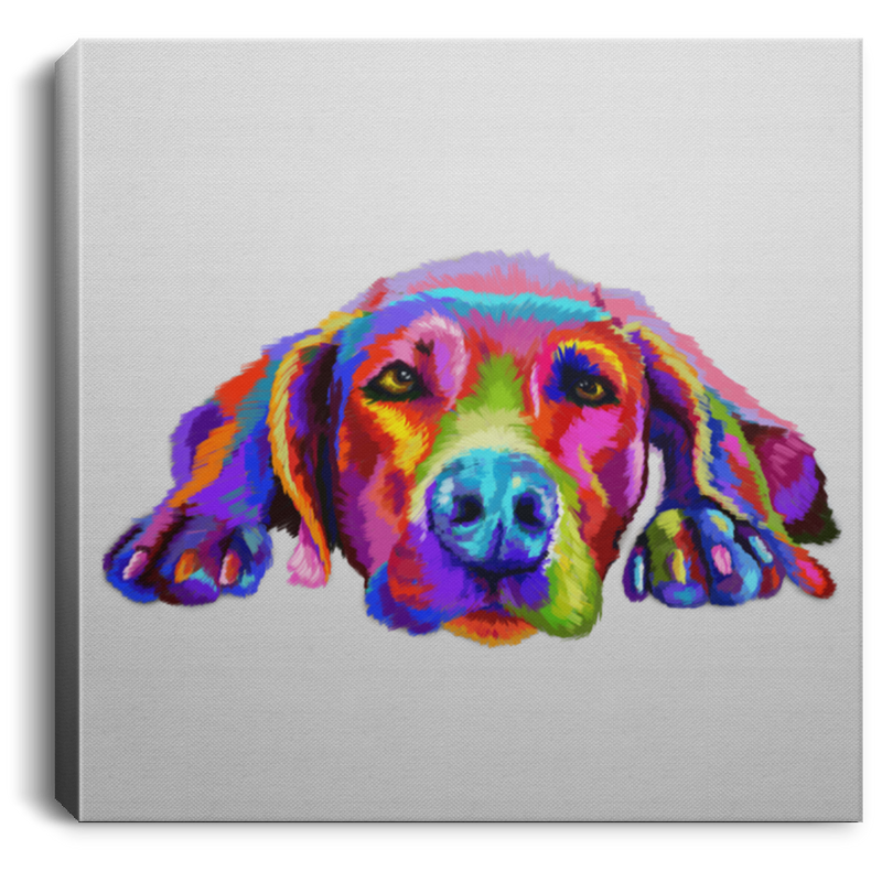 Hand Painted Weimaraners Square Canvas .75in Frame