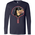 ROTTWEILER ZIP-DOWN Men's Jersey LS T-Shirt