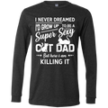 SUPER SEXY CAT DAD Men's Jersey LS T-Shirt