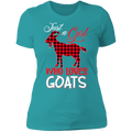 JUST A GIRL WHO LOVES GOATS Ladies' Boyfriend T-Shirt