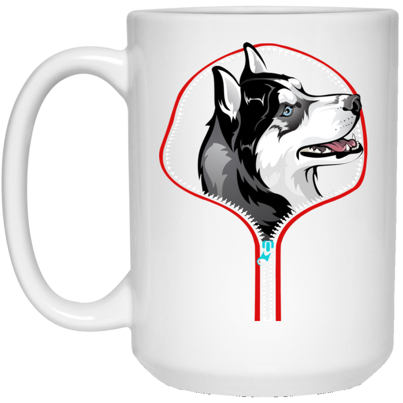 HUSKY ZIP-DOWN 15 oz. White Mug