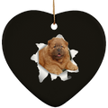 CHOW CHOW 3D Ceramic Heart Ornament
