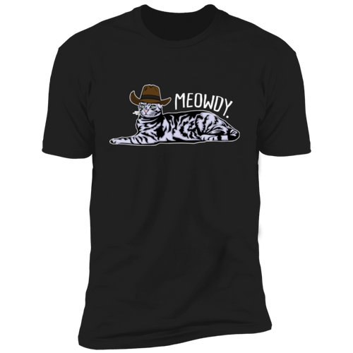 MEOWDY TEXAS CAT Premium Short Sleeve T-Shirt