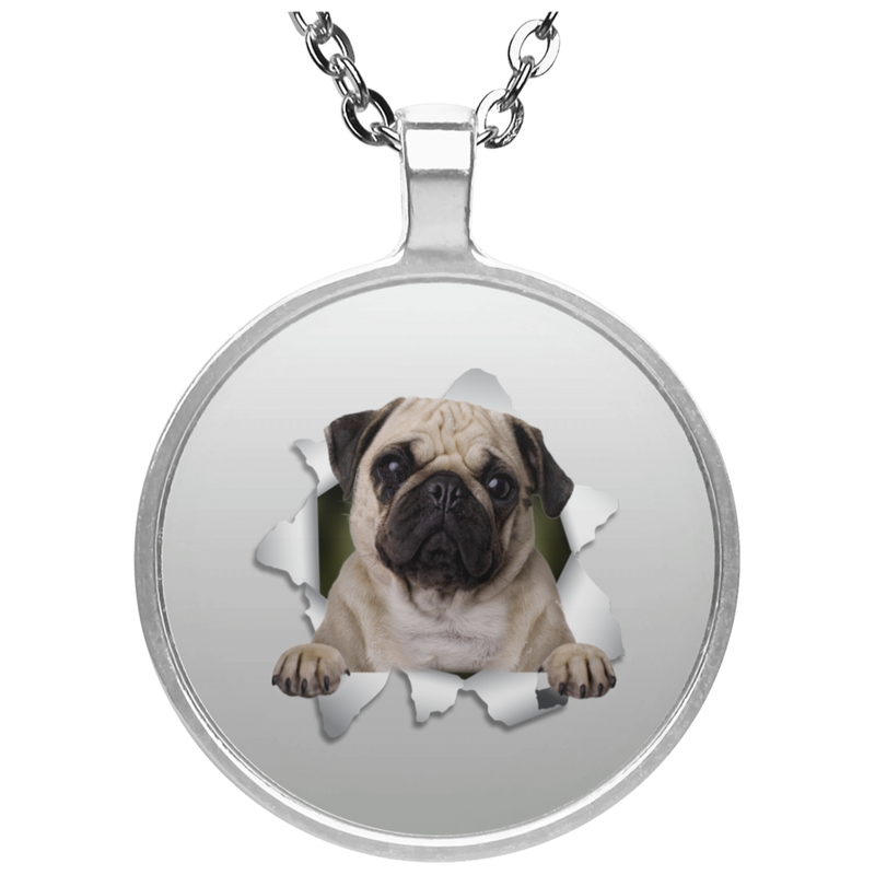 PUG 3D Circle Necklace
