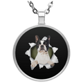 BOSTON TERRIER 3D Circle Necklace