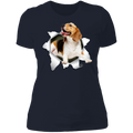 BEAGLE 3D Ladies' Boyfriend T-Shirt