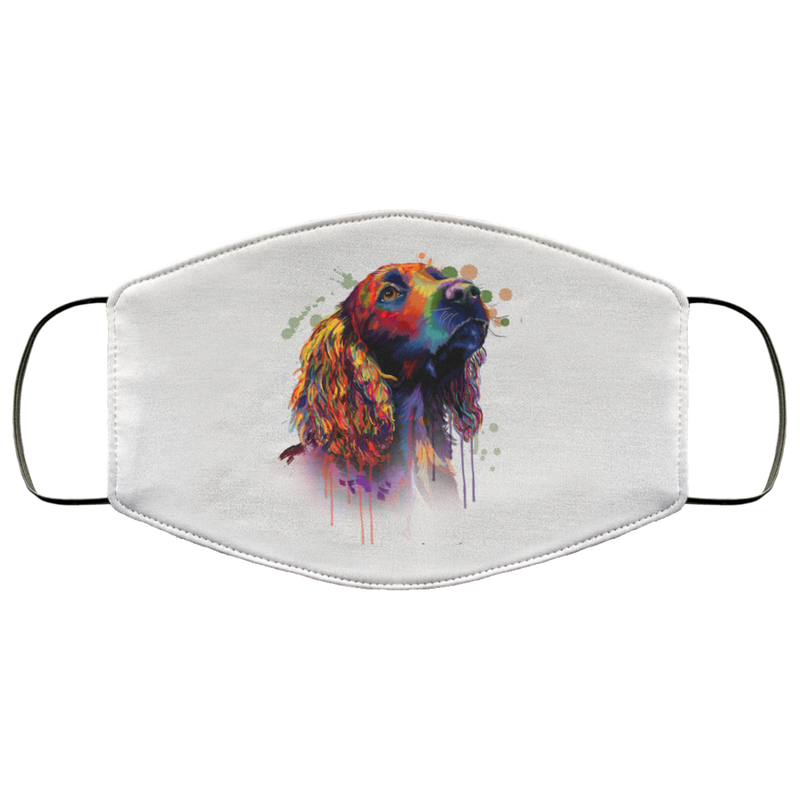Hand painted cocker spaniel human Face Mask