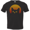 VINTAGE EIGHTIES STYLE CAT Toddler Jersey T-Shirt